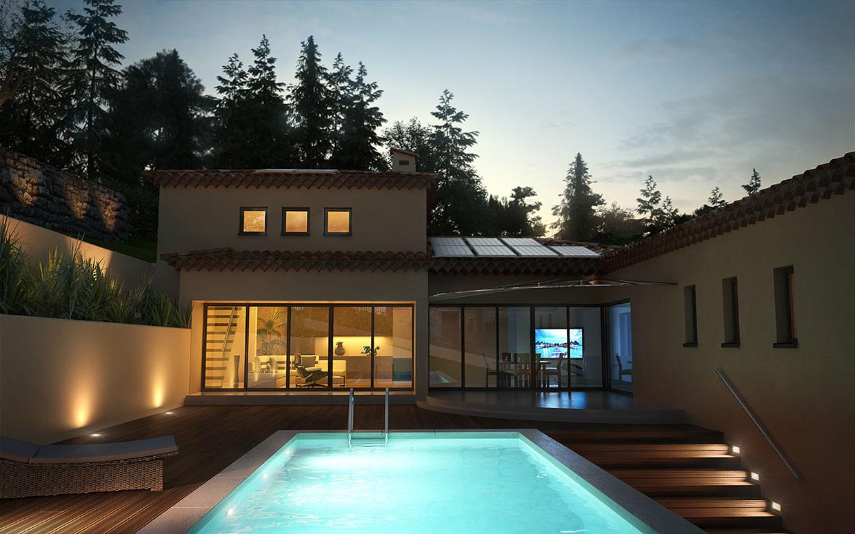 Residence in france kadesign for Cg home designs